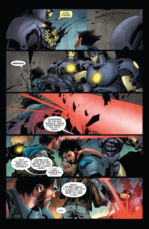 Cyclops And Wolverine VS Mutant-Powered Sentinels