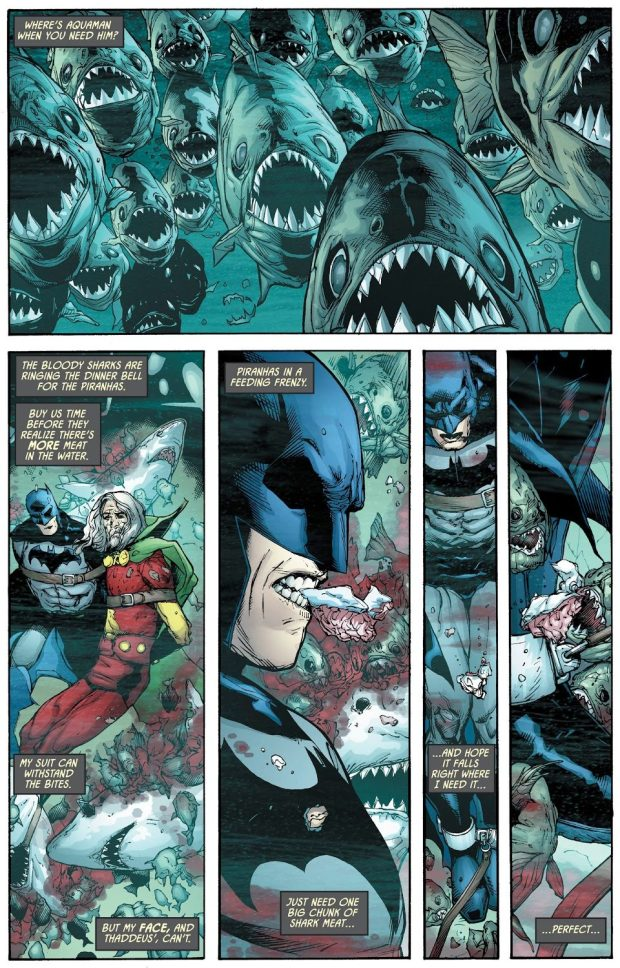 How Batman Escaped A Shark And Piranha Tank
