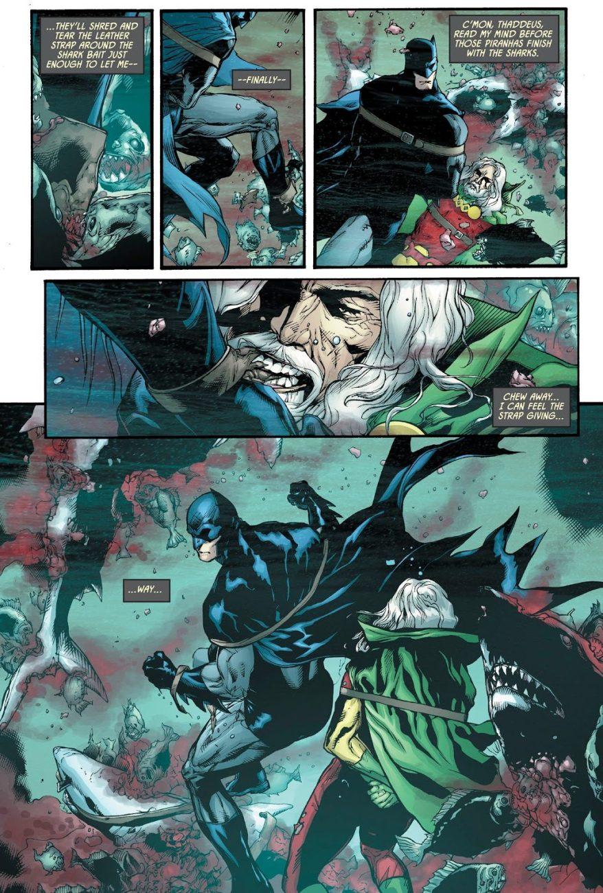 How Batman Escaped A Shark And Piranha Tank