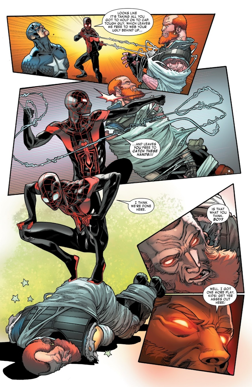 Spider-Man And Captain America VS Snatcher