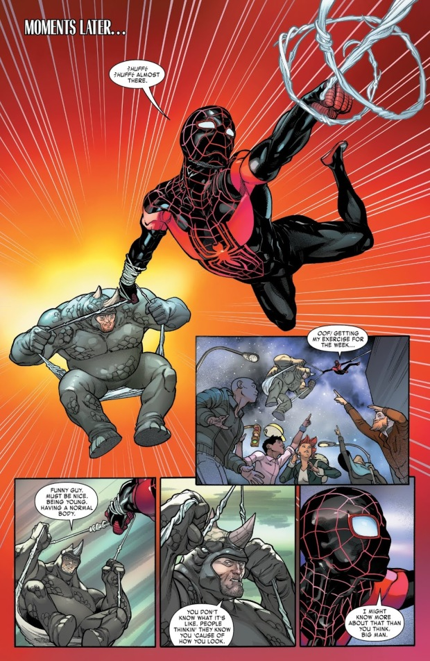 Spider-Man Miles Morales Carrying The Rhino