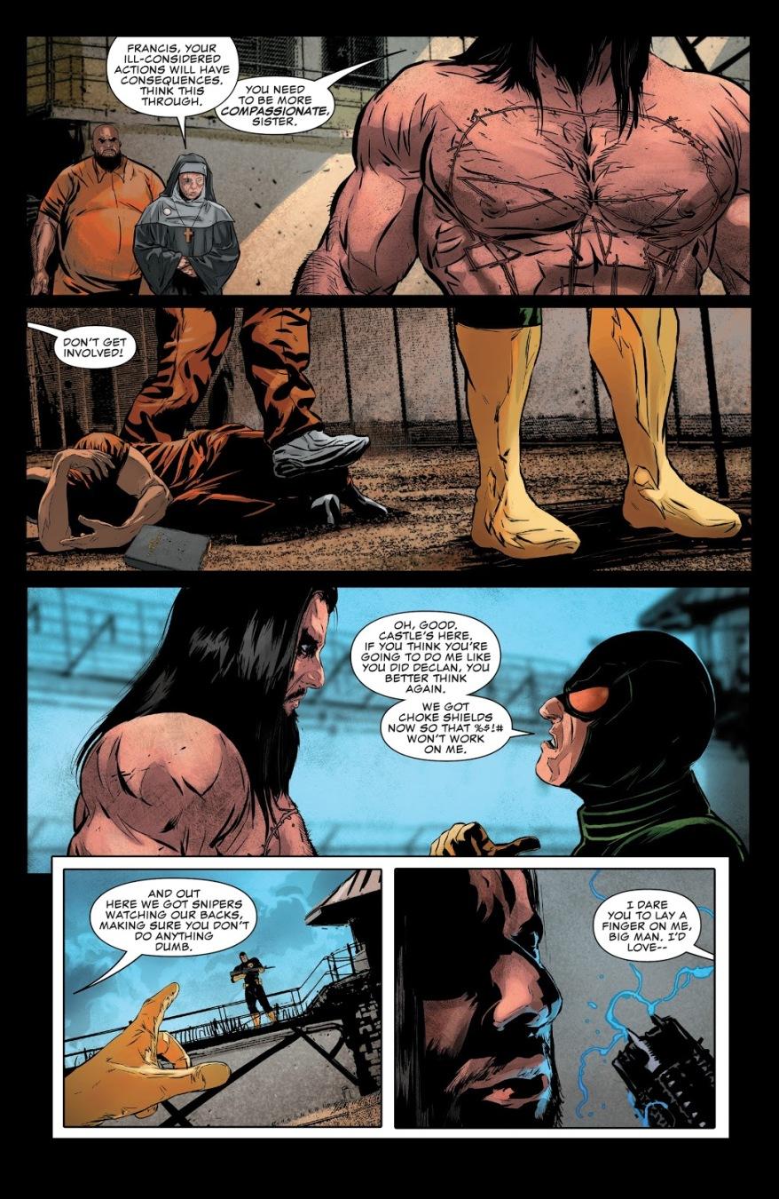 The Punisher Killing A Hydra Prison Guard