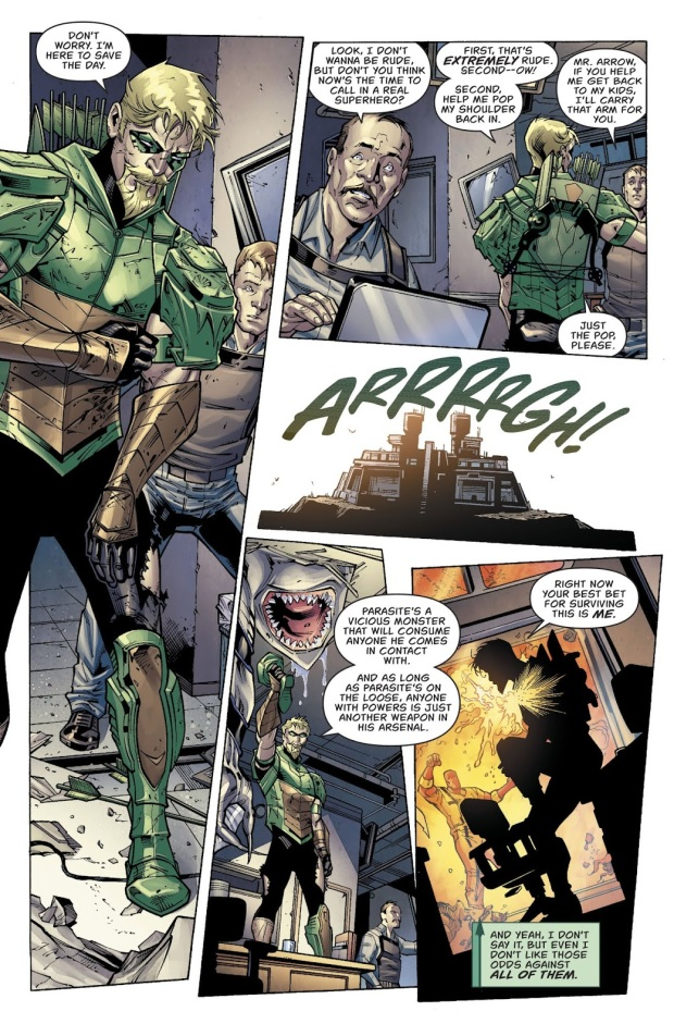 Green Arrow Puts Down A Prison Riot
