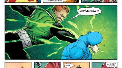 Guy Gardner Punches Doctor Manhattan