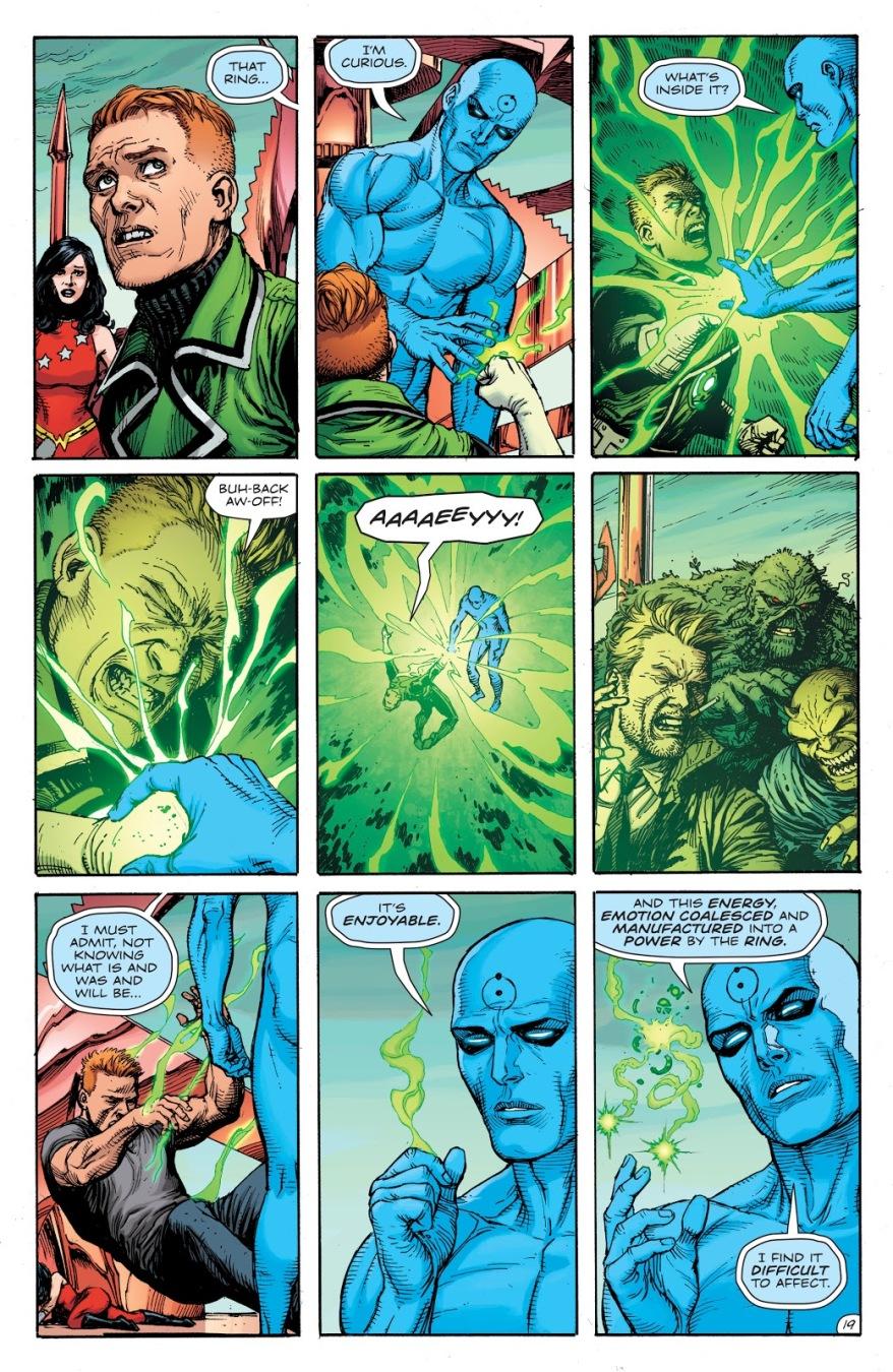 Guy Gardner Punches Doctor Manhattan