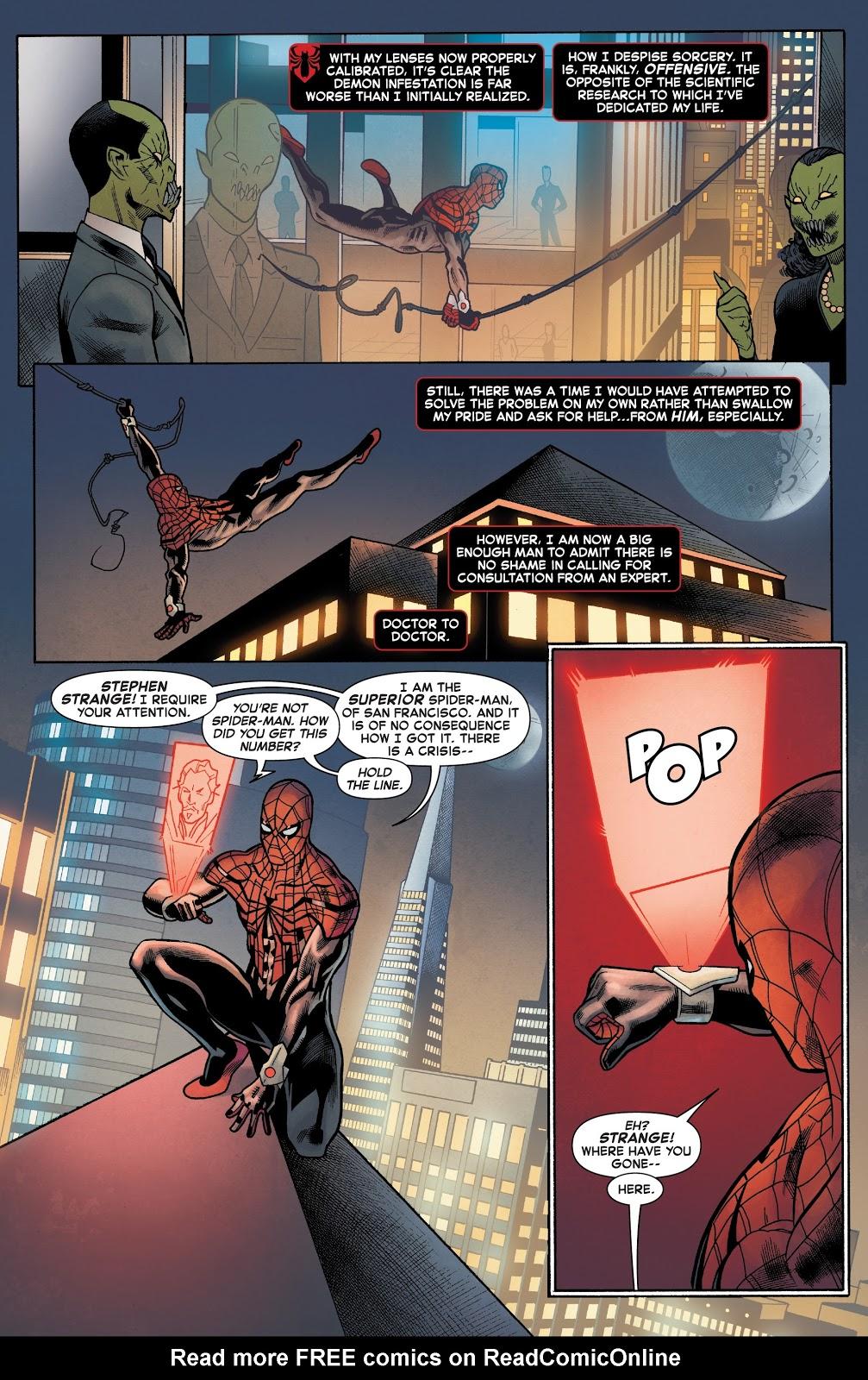 Doctor Strange Attacks Superior Spider-Man | Comicnewbies