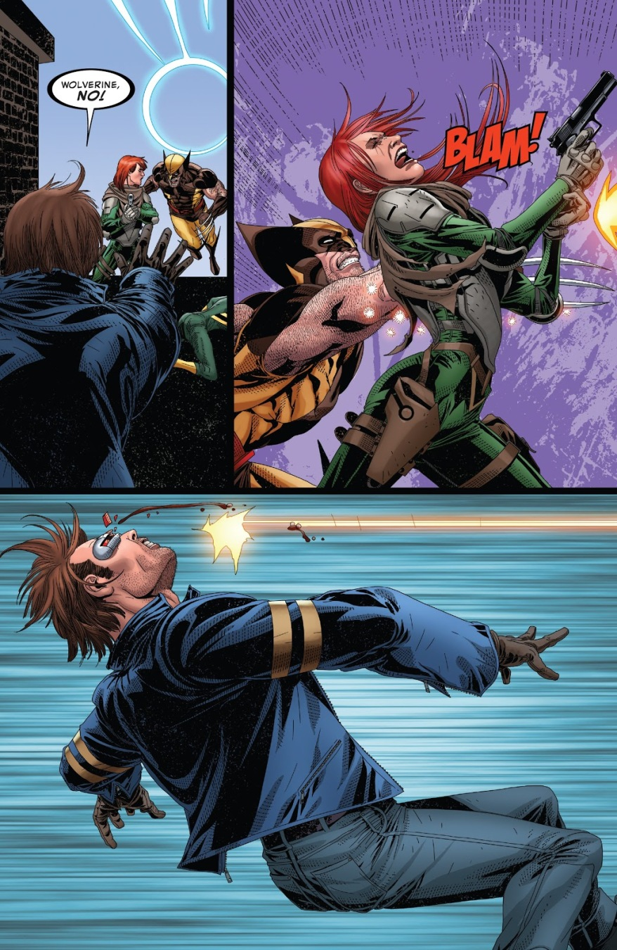 Hope Summers Shoots Cyclops's Eye