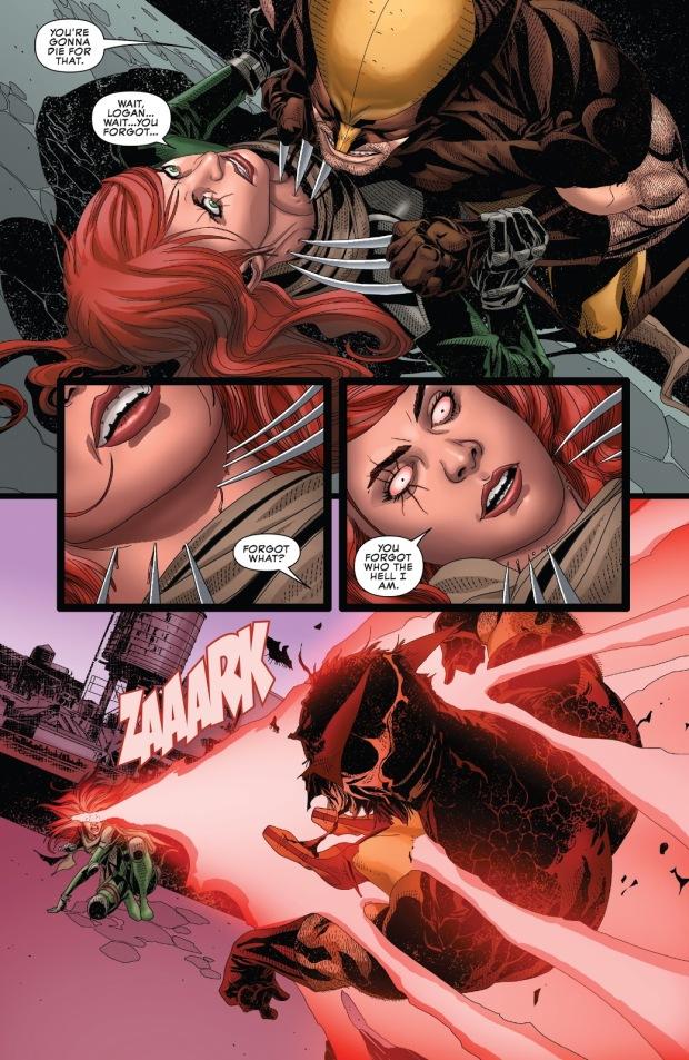 Hope Summers Shoots Cyclops's Eye