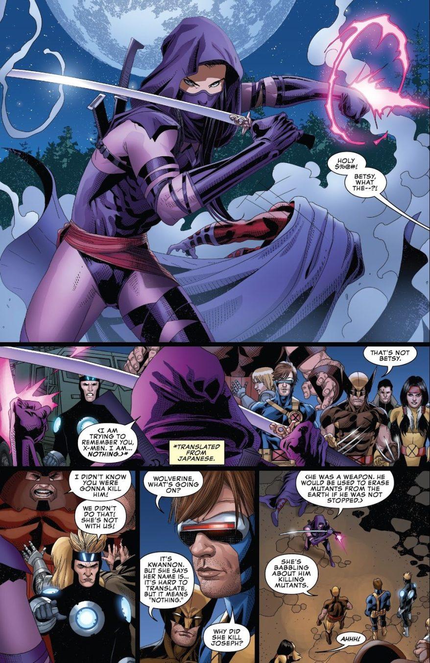 Kwannon Kills Magneto's Clone