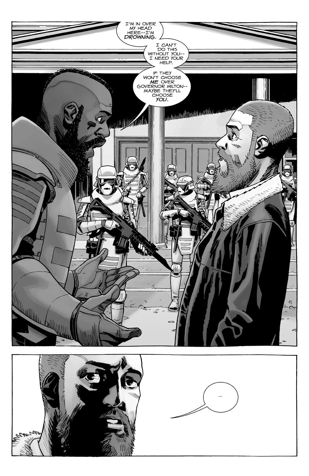 Mercer contando o plano dele para o Rick