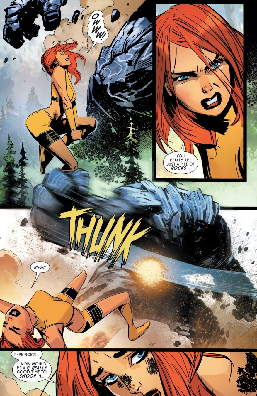 Wonder Woman And Giganta VS A Titan