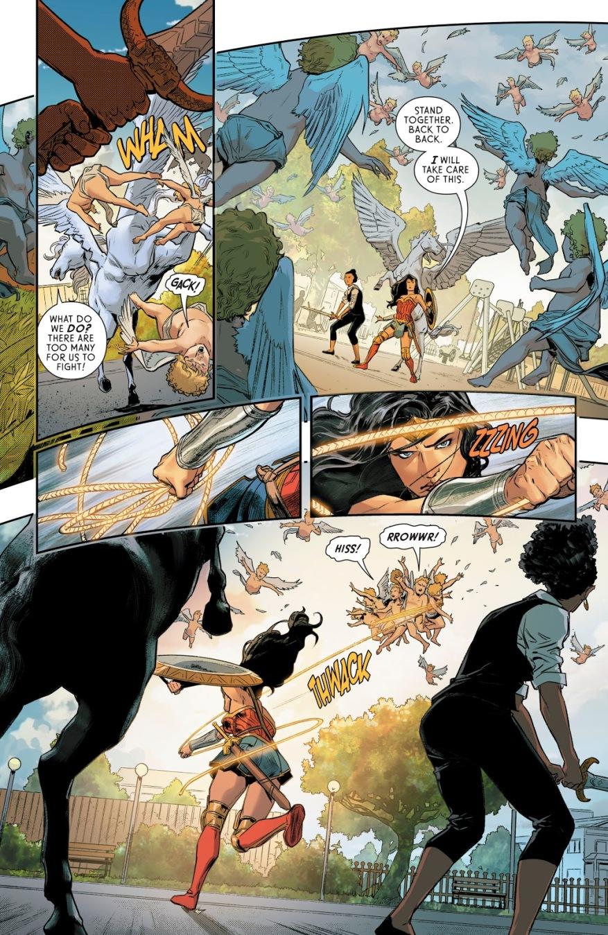 Wonder Woman VS Winged Cupids (Rebirth)
