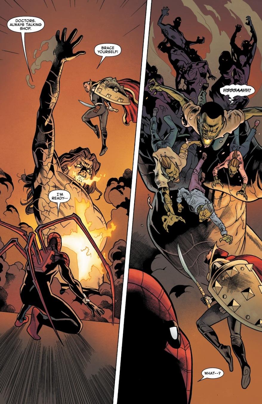 Superior Spider-Man And Doctor Strange Exchange Weapons
