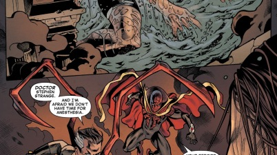 Superior Spider-Man And Doctor Strange Exchange Weapons