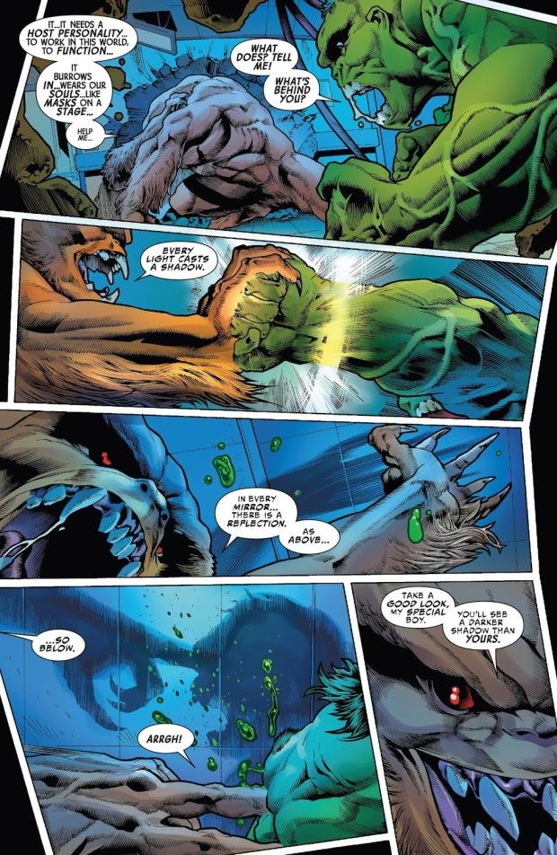 The Immortal Hulk Absorbs Sasquatch's Gamma Radiation