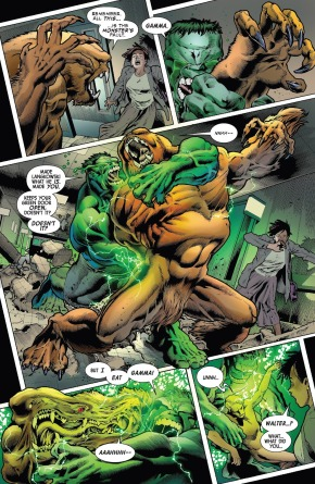 The Immortal Hulk Absorbs Sasquatch's Gamma Radiation