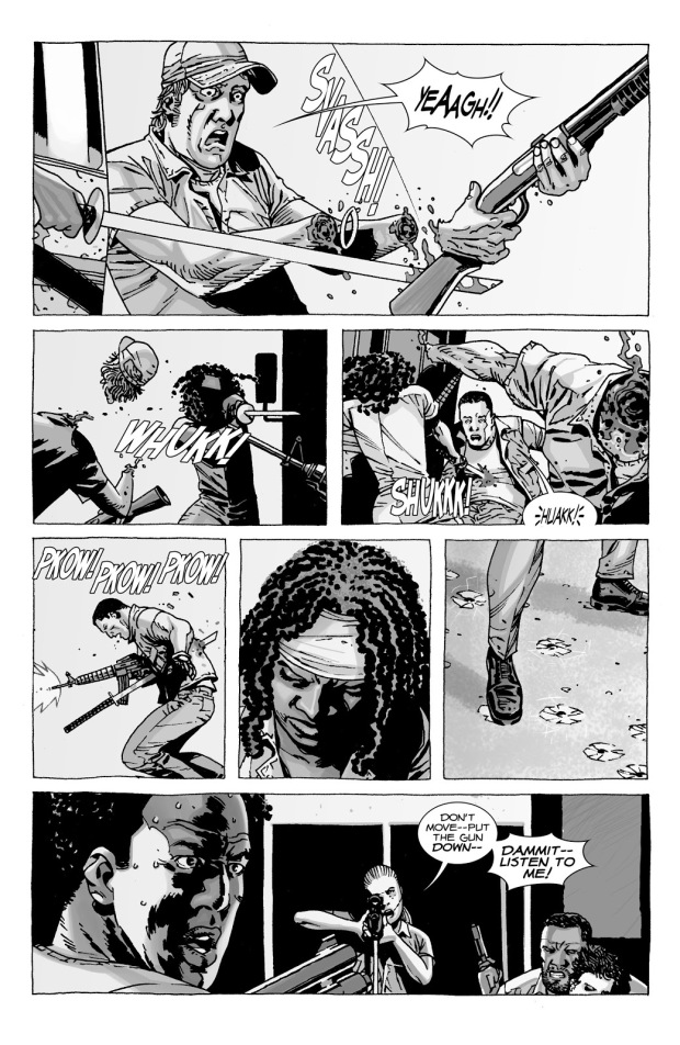 Andrea And Michonne VS 4 Woodbury Soldiers (The Walking Dead)