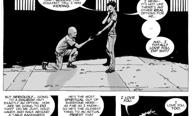 Glenn Rhee Proposes To Maggie Greene (The Walking Dead)