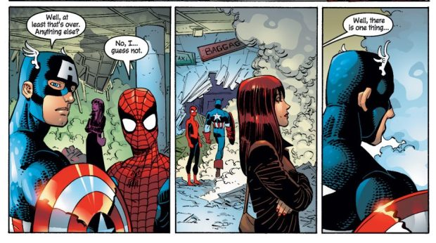 Mary Jane Parker Meets Captain America