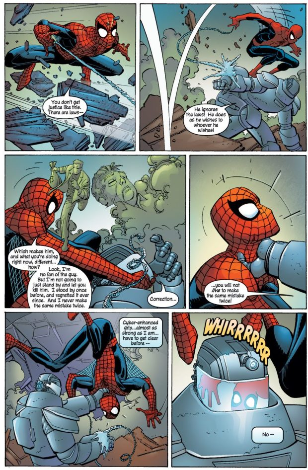 Spider-Man And Captain America Saves Doctor Doom