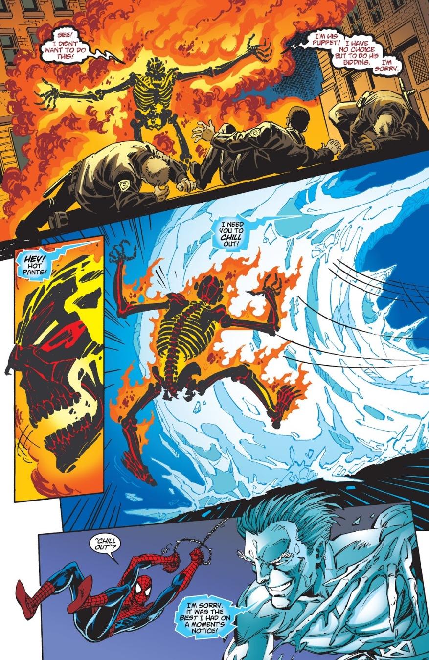 Spider-Man And Iceman VS Shadrac