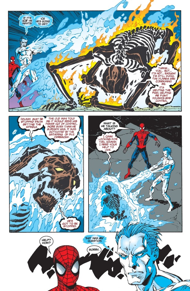 Spider-Man And Iceman VS Shadrac