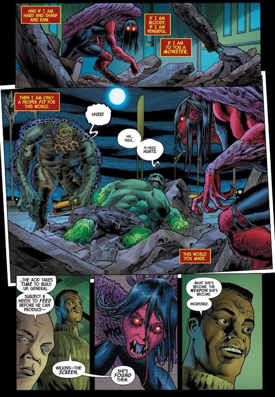 The Harpy Takes Out The Hulk's Heart