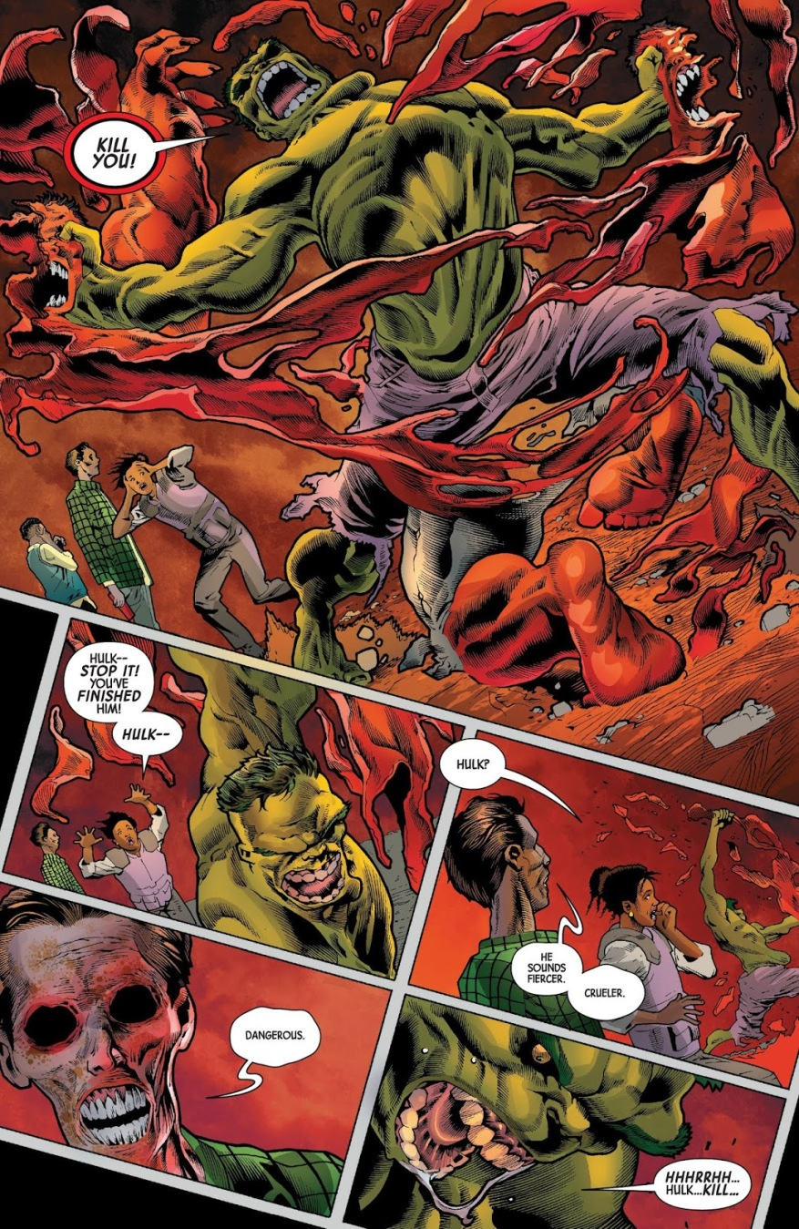 The Immortal Hulk VS The Red Hulk
