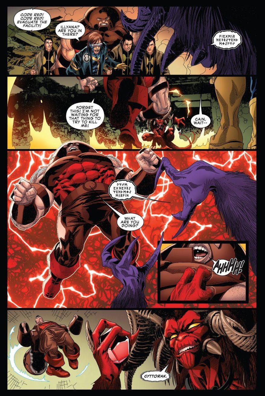 Magik Destroys The Gem Of Cyttorak
