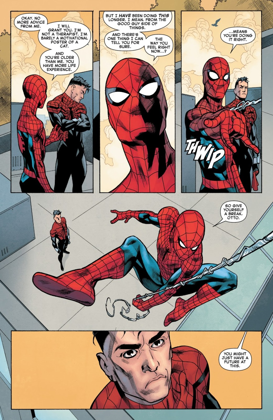Spider-Man Gives Superior Spider-Man Life Advice