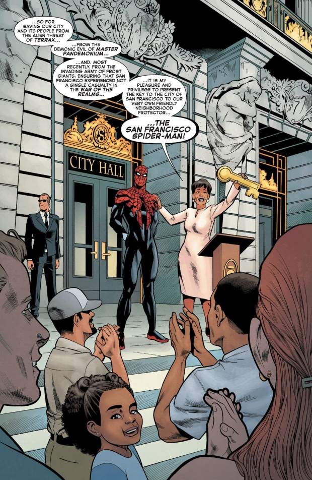 Superior Spider-Man Awarded With San Francisco's Key