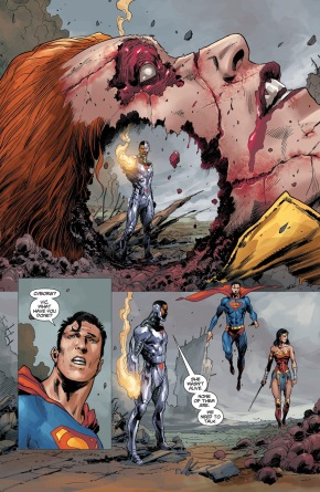 Cyborg Kills Giganta (DCeased)