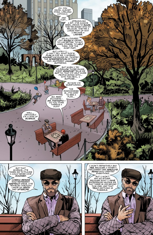 Daredevil And Mister Fantastic Talks About God