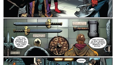 The Avengers Choosing Asgardian Weapons