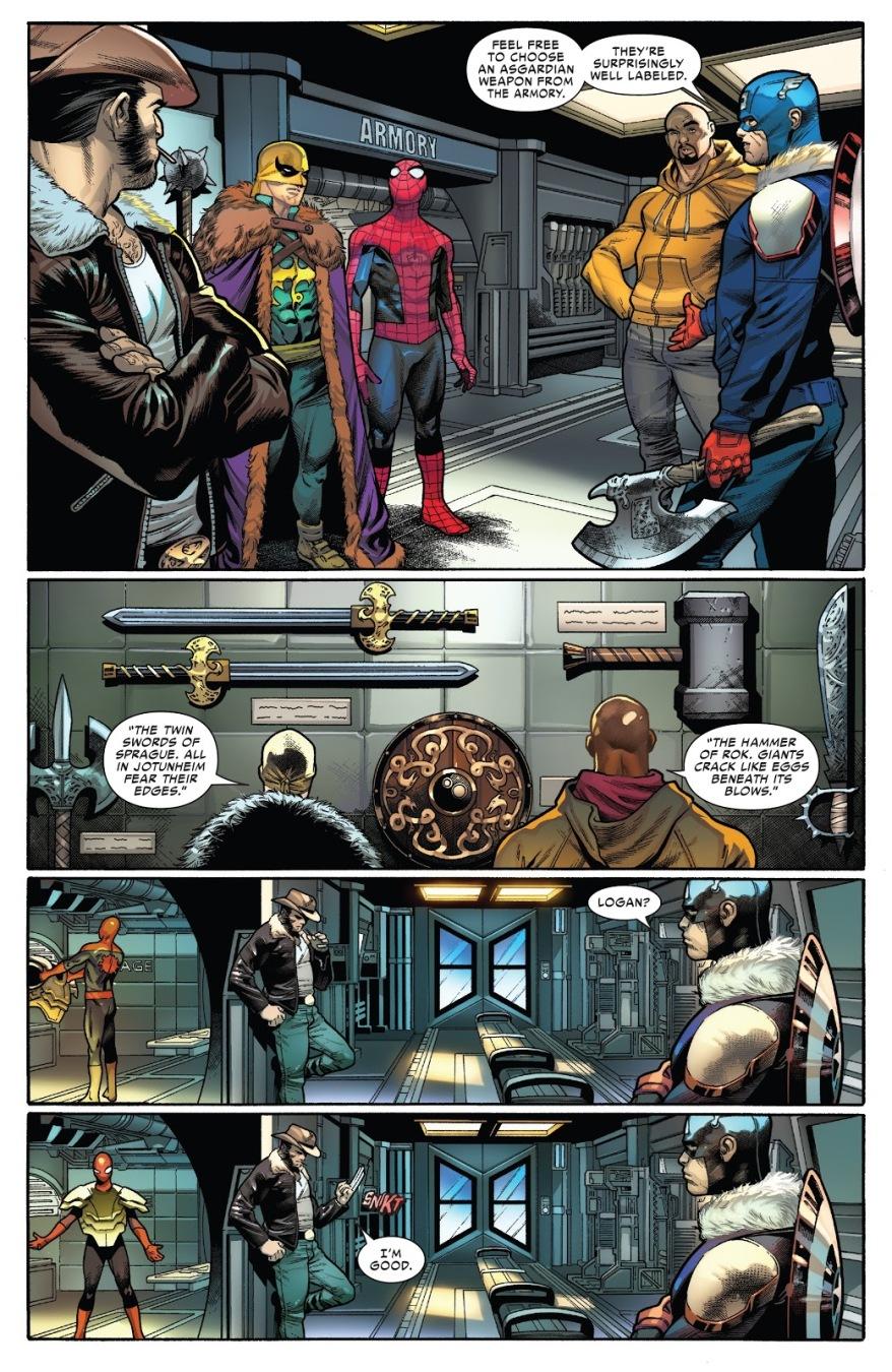 The Avengers Choosing Asgardian Weapons