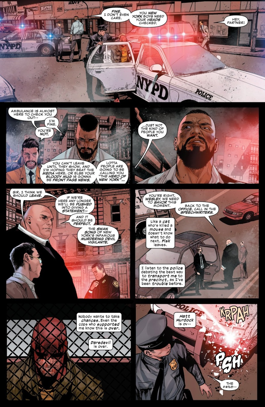 The Punisher Saves Daredevil From NYPD