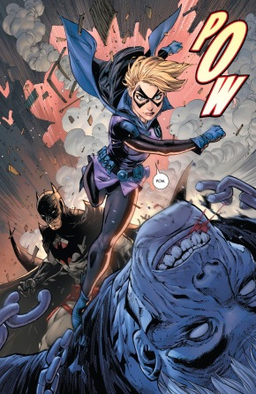 Batman And Gotham Girl VS Solomon Grundy And Amygdala
