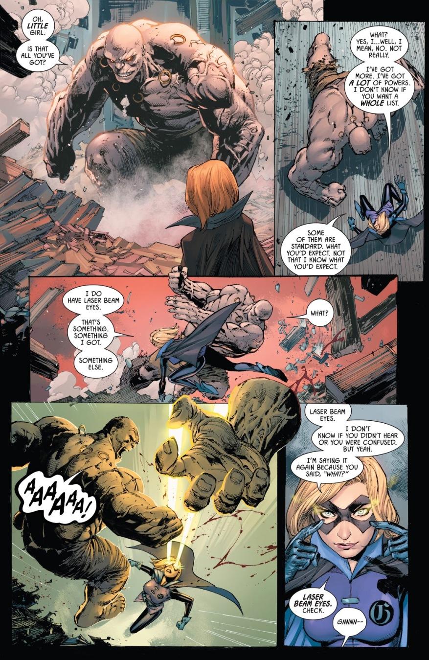 Batman And Gotham Girl VS Solomon Grundy And Amygdala