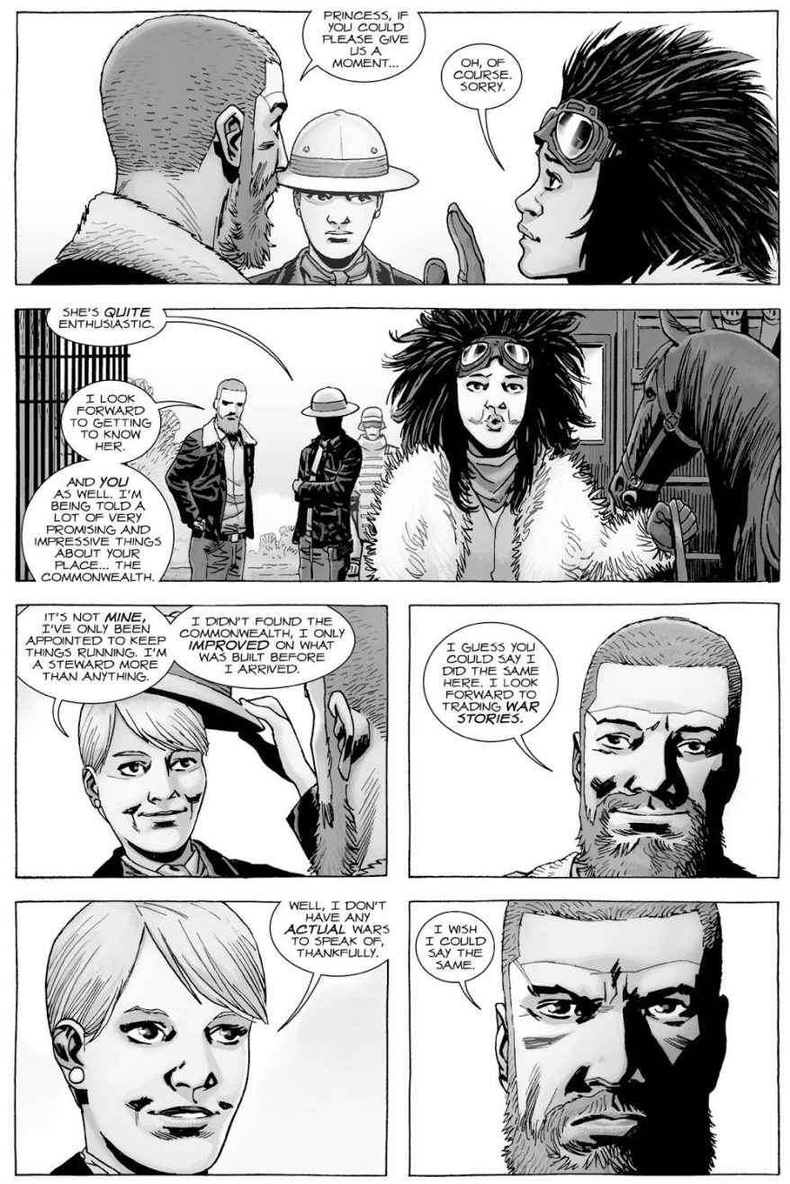 Rick Grimes Meets Governor Pamela Milton (The Walking Dead)