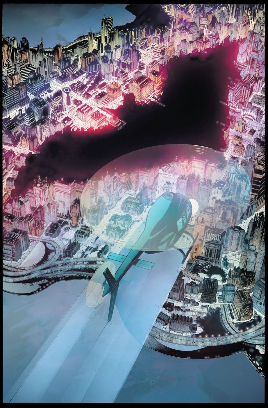 Bat Symbol On Gotham City