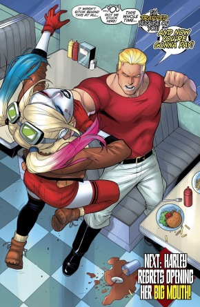 Harley Quinn And Captain Triumph On A Date