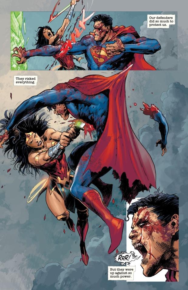 Wonder Woman, Green Lantern And Cyborg VS Zombie Superman (Dceased)