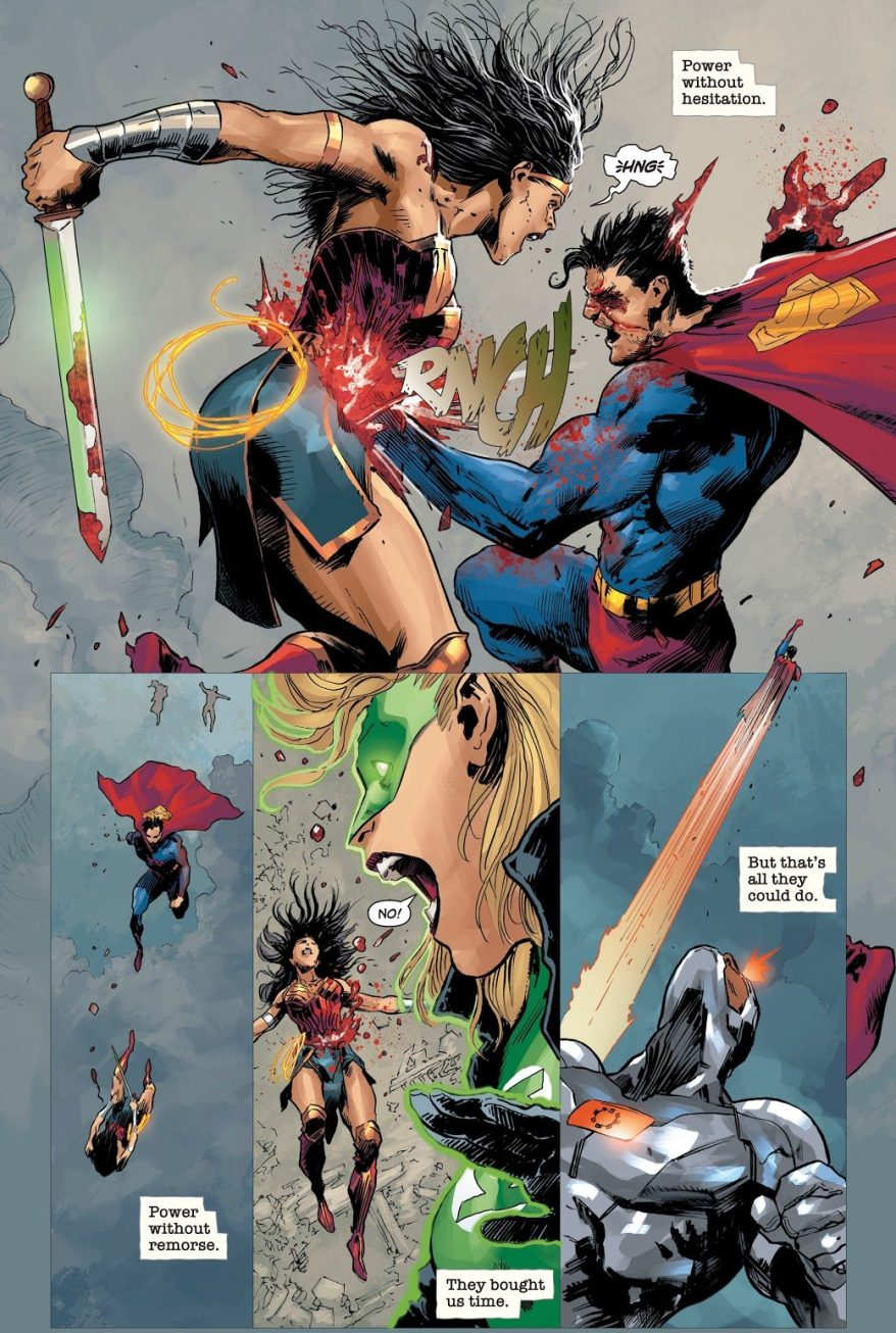 Wonder Woman, Green Lantern And Cyborg VS Zombie Superman (Dceased)
