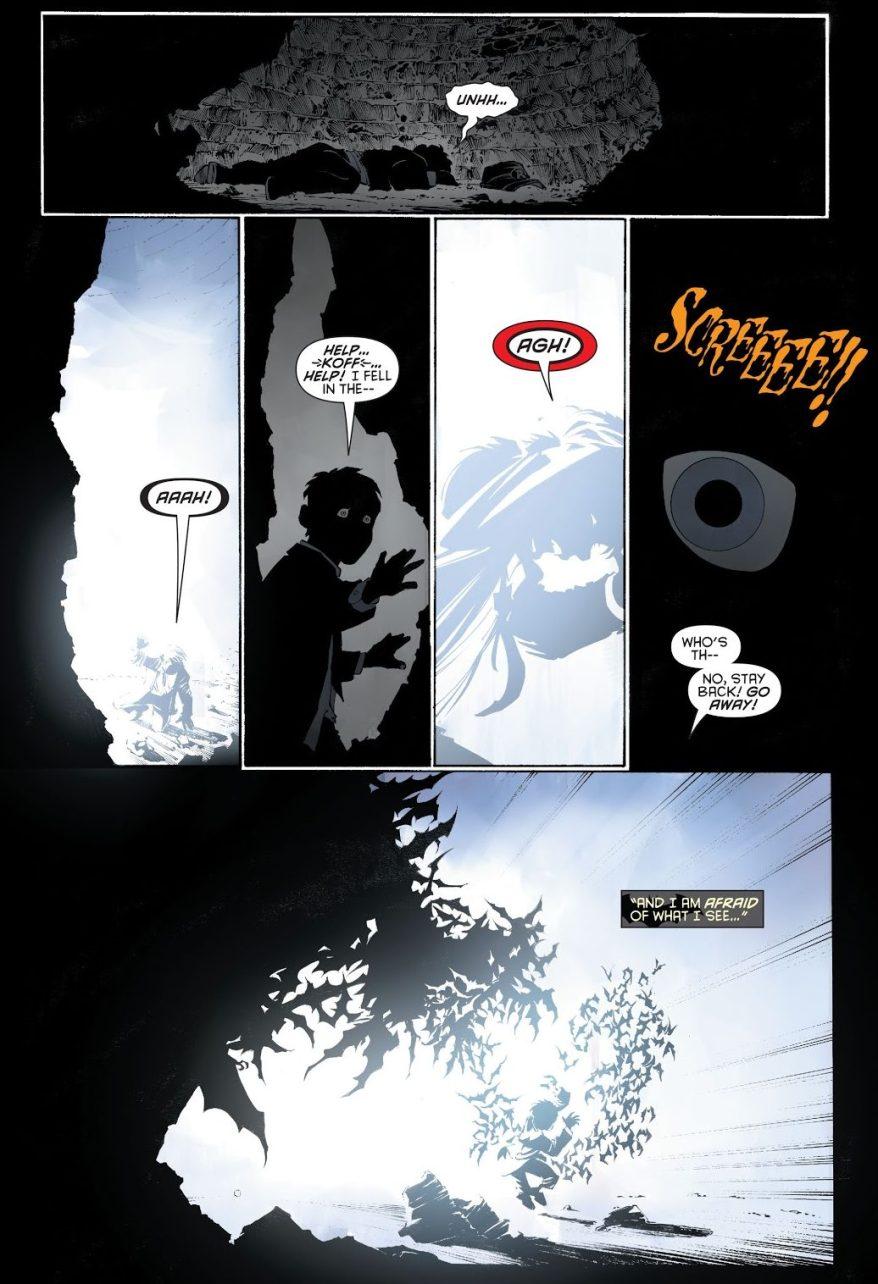 Young Bruce Wayne Falls Into The Batcave (New 52)