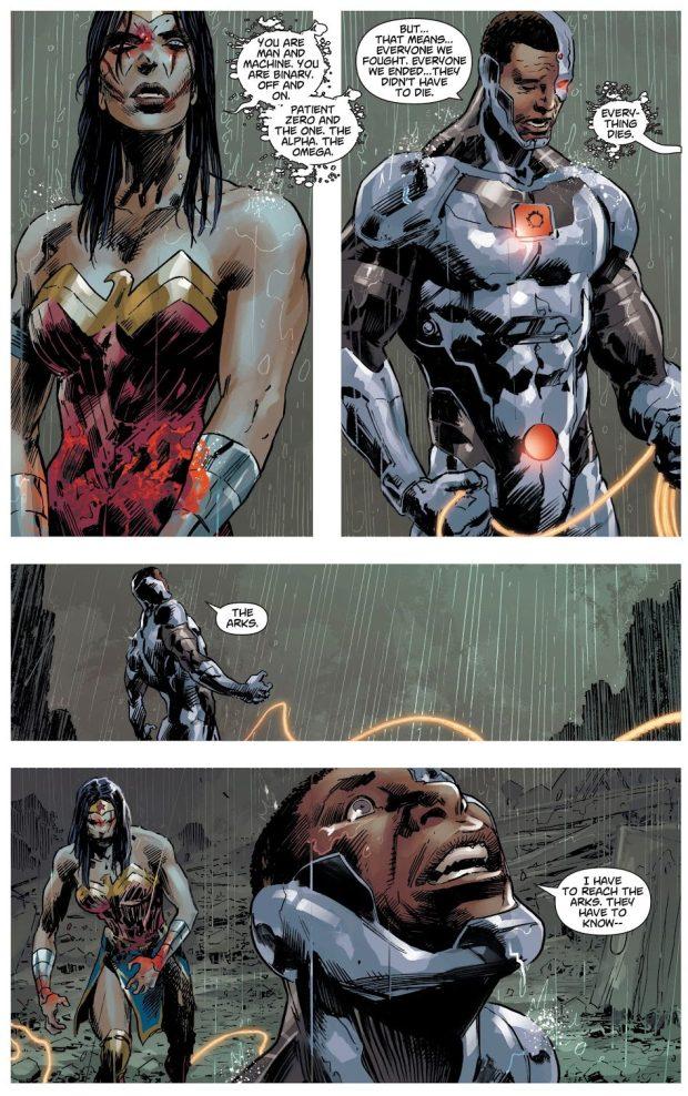 Zombie Wonder Woman Kills Cyborg (DCeased)