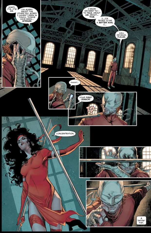 Elektra Trains Daredevil (Daredevil Vol. 6 #13)