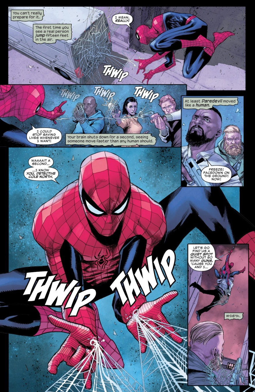 NYPD Tries To Arrest Spider-Man (Daredevil Vol. 6 #11)