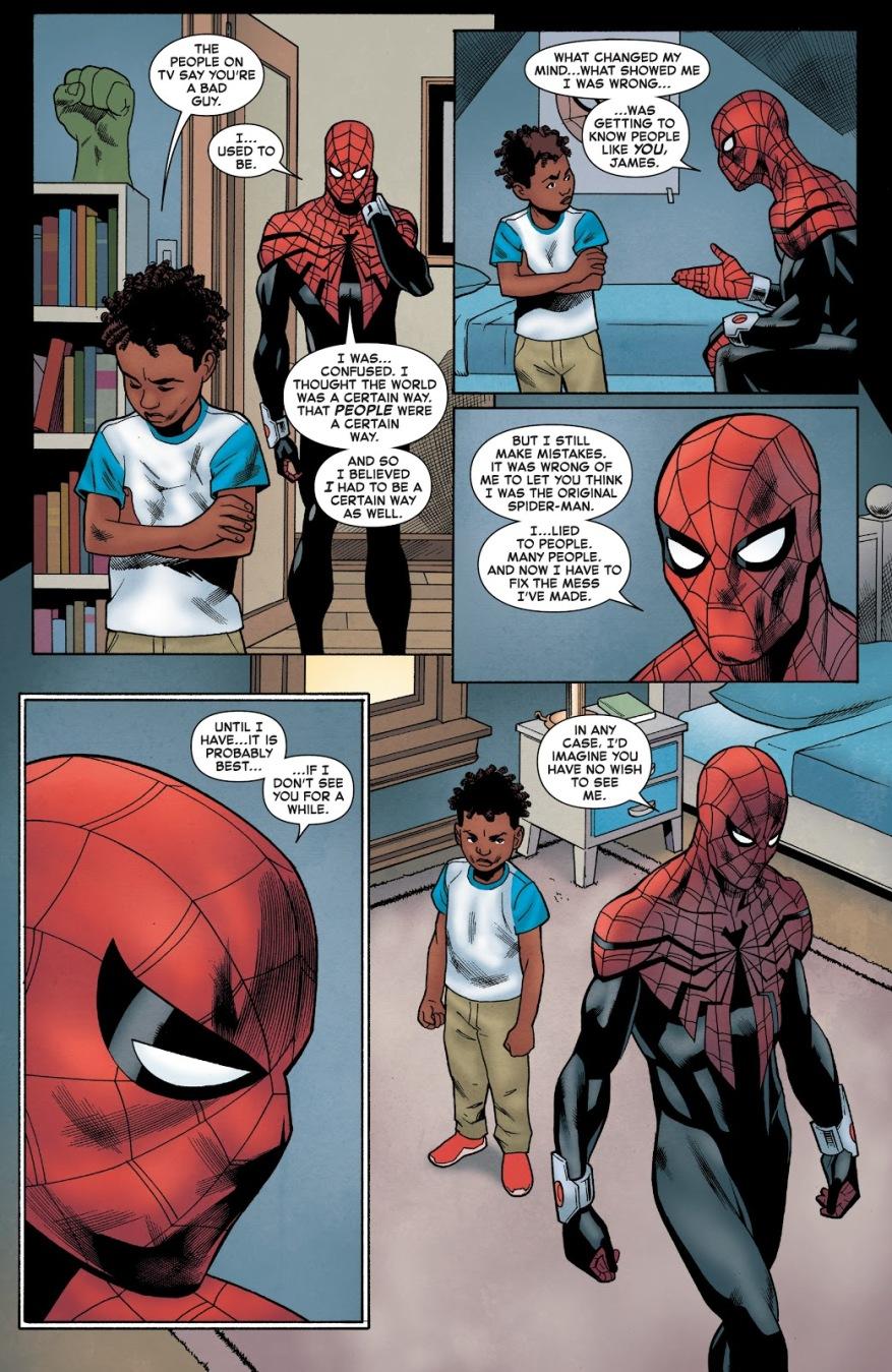Superior Spider-Man Bonds With A Kid