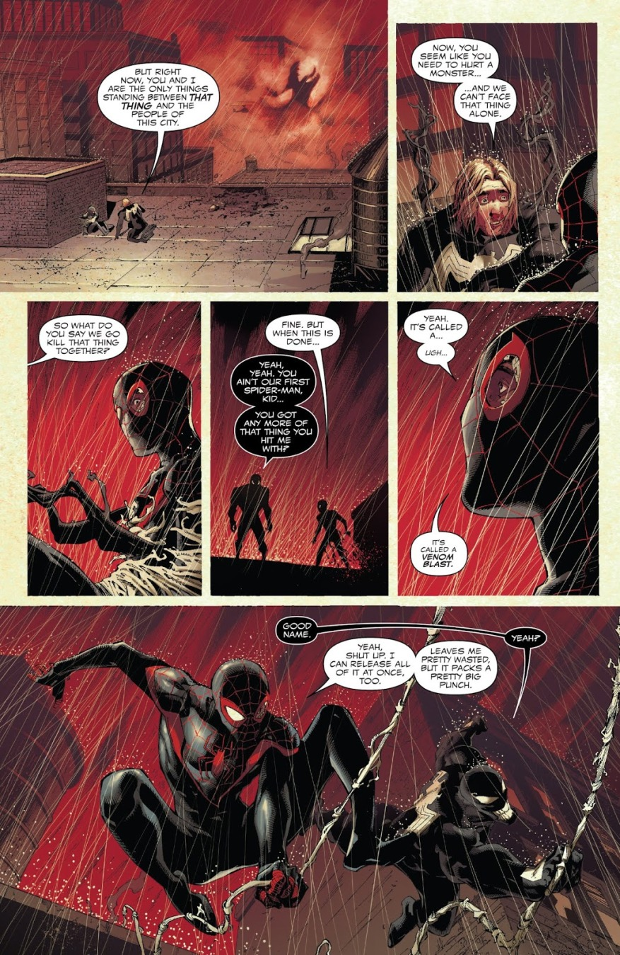 Venom Meets Spider-Man Miles Morales