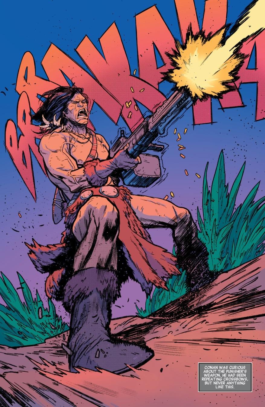 Conan The Barbarian Using A Machine Gun